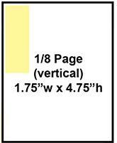 Eight of a page vertical ad